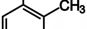 o-Cresol(o-クレゾール)の構造式